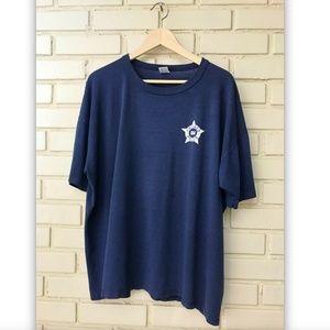 Vintage Chicago Police XXL Navy Blue Crew Shirt